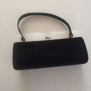 Classy Black Clutch (makeup, dress up, occasions)